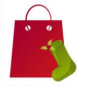 Christmas bag — Stock Vector