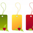 Stock vektor: Christmas sale tags