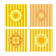 Cute sun backgrounds — Stock Vector