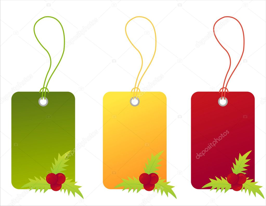 Set of 3 christmas sale tags — Stock Vector #4272239