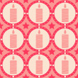 Royalty-Free Stock Imagem Vetorial: Candles pattern