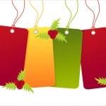 Christmas sale tags — Stock Vector