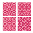 Cute hearts patterns — Stock Vector