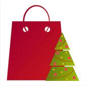 Weihnachten-tasche — Stockvektor
