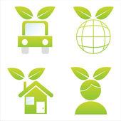 Icônes écologiques — Vecteur