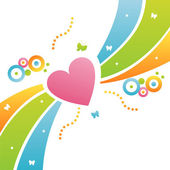 Heart background — Stockvector