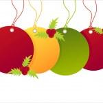 Christmas shopping tags — Stock Vector