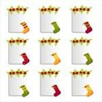 Christmas socks frames — Stock Vector #4409985