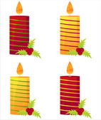 Christmas candles — Stock Vector