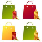 Sacs de shopping de noël — Vecteur