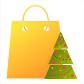 Christmas bag — Vector de stock