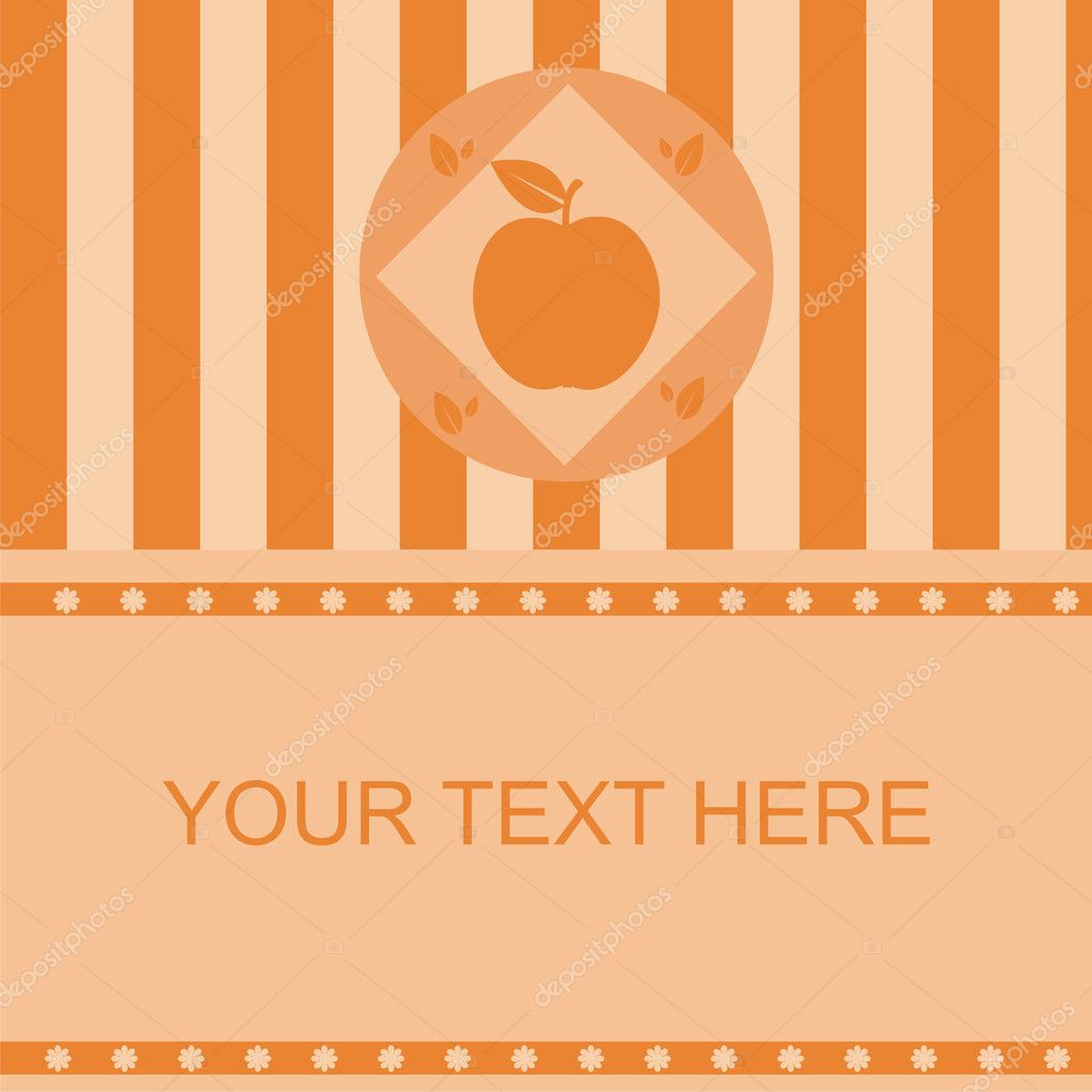 Cute apple frame  Stock Vector #4410171