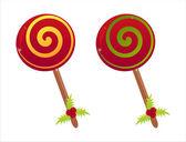 Christmas lollipops — Stock Vector