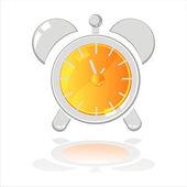 глянцевый будильник — Cтоковый вектор