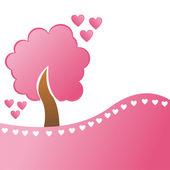 St. valentine's day tree — Stock Vector