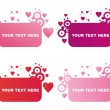St. valentine's day frames — Stock Vector #4508165