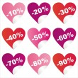 St. valentine's day sale stickers — Stock Vector