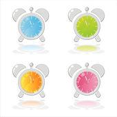 カラフルな時計アイコン — ストックベクタ