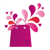 St. valentine's day shopping bag — Stock Vector