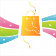 Shopping background — Stock Vector