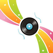 Vinyl record background — Stock Vector