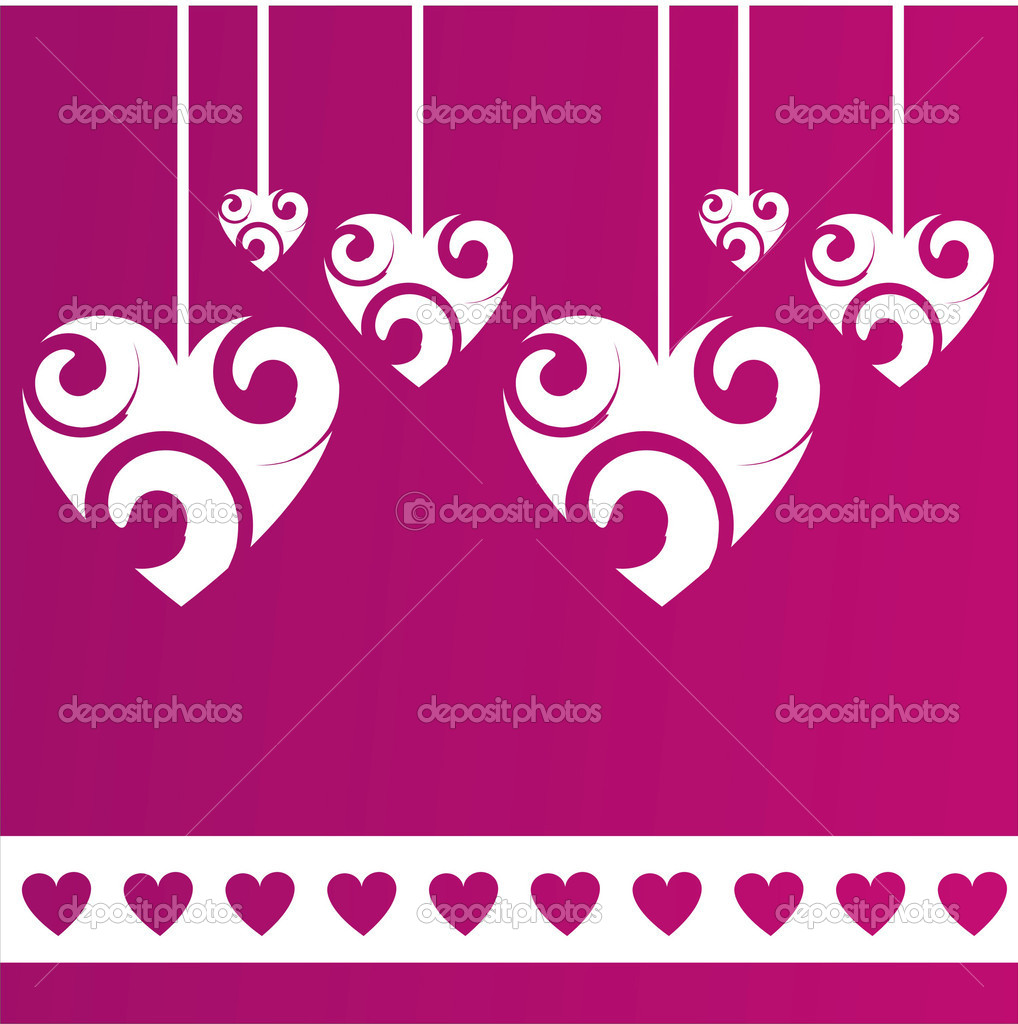 Purple  st. valentine's day background — Stock Vector #4588181