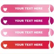 St. valentine's day banners — Stock Vector