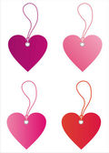 St. valentine's day sale tags — Stock Vector