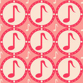 Musical pattern — Stock Vector