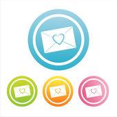 Kolorowy miłość list znaki — Wektor stockowy