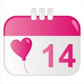 St. valentine's day icon — Stock Vector