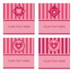 Cute hearts frames — Stock Vector #4619412