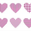 Hearts icons — Stock Vector #4619705