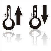 Schwarze temperatur-symbole — Stockvektor