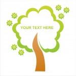 Tree frame — Stock Vector