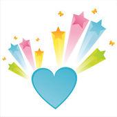 Heart with star splash — Stock Vector