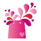 St. valentine's day bag — Stock Vector