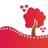 St. valentine's day tree — Vector de stock