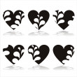 Stylish hearts - Stock Vector