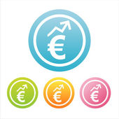 Colorful euro signs — Stock Vector