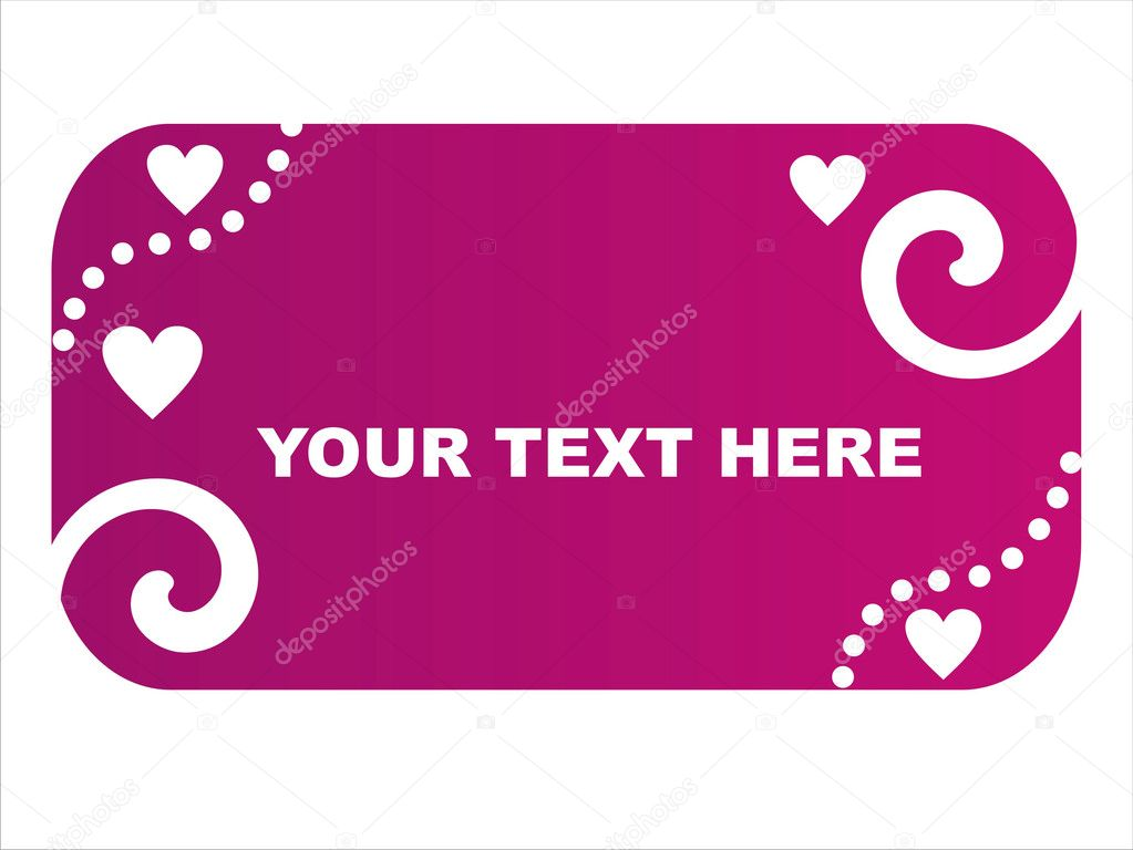 Purple st. valentine's day frame  Stock Vector #4759062