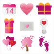 St. valentine's day icons — Stock Vector #4793053