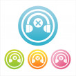 Colorful headphones signs — Stock Vector
