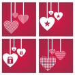 St. valentine's day backgrounds — Image vectorielle