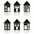 Royalty-Free Stock Vector Image: Black buildings icons