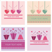 Cute st. valentine's day cards — Stock Vector