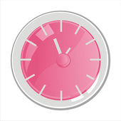 Clock isolated on white — Stock Vector