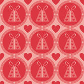 St. valentine's day presents pattern — Stock Vector