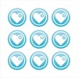 Blue hearts signs — Stock Vector #4892857