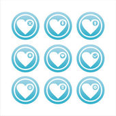 Blue hearts signs — Stock Vector